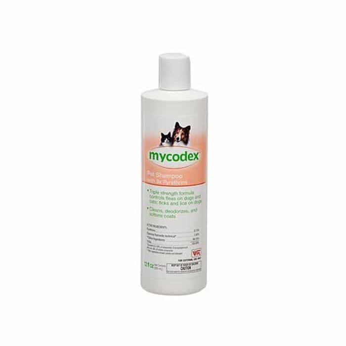 Mycodex Flea & Tick Pet Shampoo with 3X Pyrethrins: Dogs & Cats: 12 oz