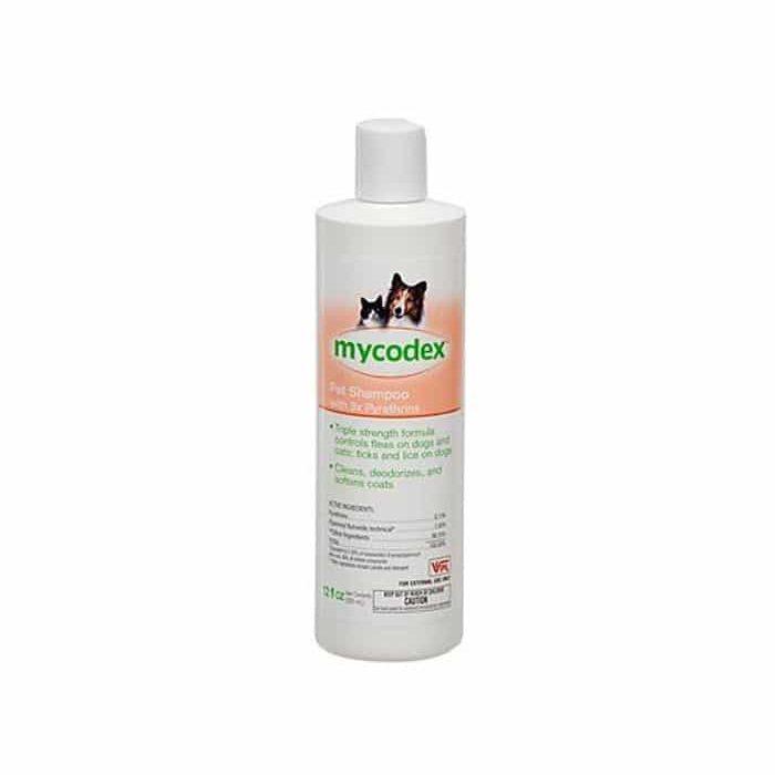 Mycodex Flea & Tick Pet Shampoo with 3X Pyrethrins: Dogs & Cats: 12 oz