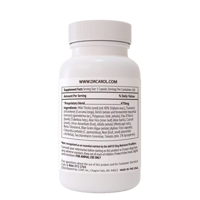Dr. Carol's Complete Dog Liver Essentials Supplement