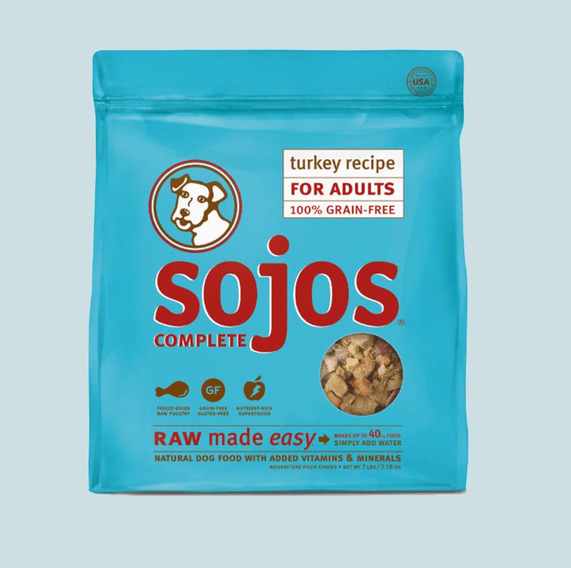 Sojos Complete Turkey Recipe Adult Grain-Free Freeze-Dried Raw Dog Food By Sojos