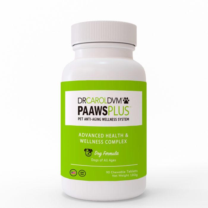 Dr. Carol's PAAWS Plus – Pet Anti-Aging Advanced Health & Wellness Complex - Dog Formula 90ct