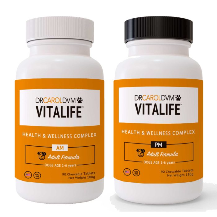 Dr. Carol's VitaLife Health & Wellness Complex AM/PM Dog Formula - 90 Count
